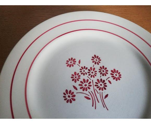 Service 18 assiettes plates et un plat Lunéville modèle Martine
