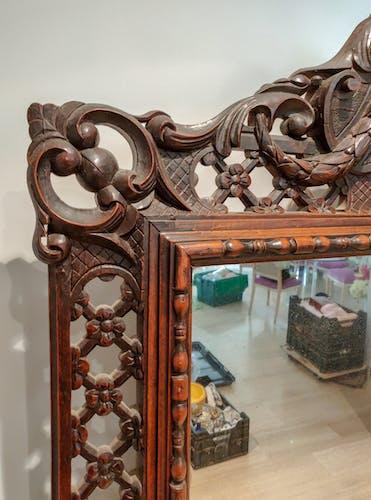 Miroir Louis XIII au mercure 150 x 95 cm