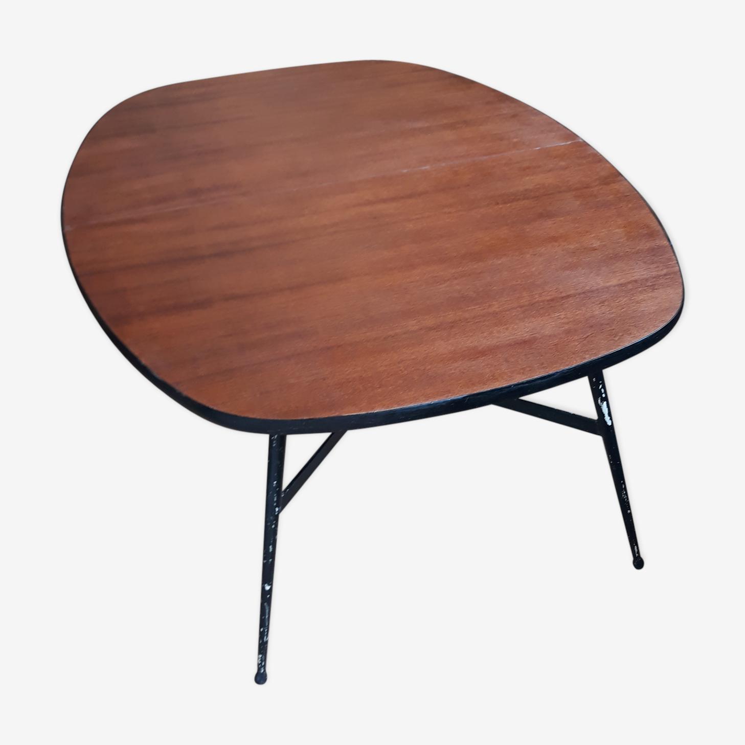 Table monte et baisse en bois et métal