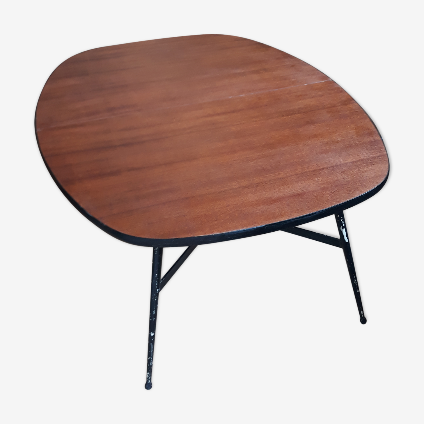 Table up and down in wood and metal