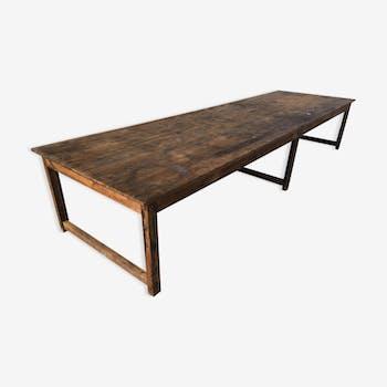 table de salle manger vintage d 39 occasion. Black Bedroom Furniture Sets. Home Design Ideas