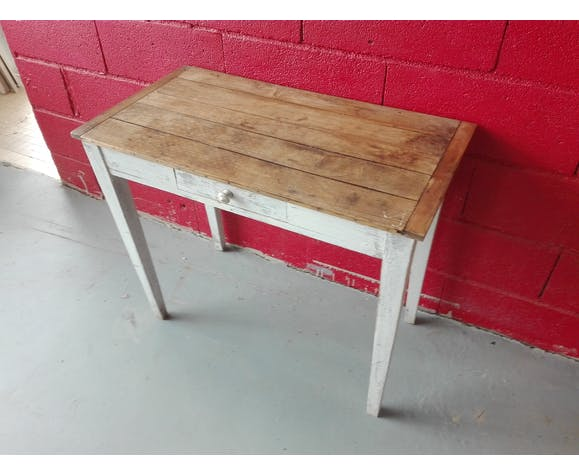 Old wooden kitchen table