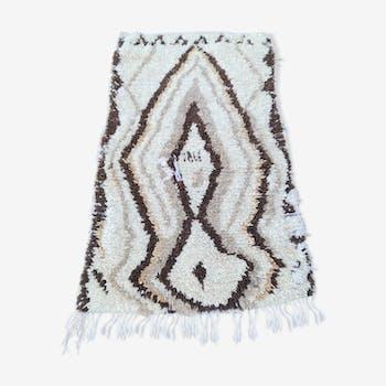 Tapis berbere beni ouarain vintage en laine fait main 100x170 cm