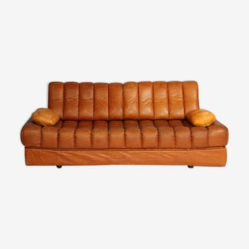 Canapé vintage DS 85 marron en cuir de de Sede 1960