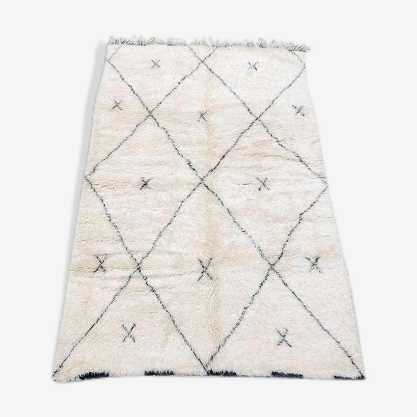 Carpet berber beni ouarain in wool 280x180cm