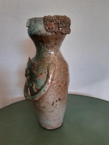 Vase grés anthropomorphe années 50