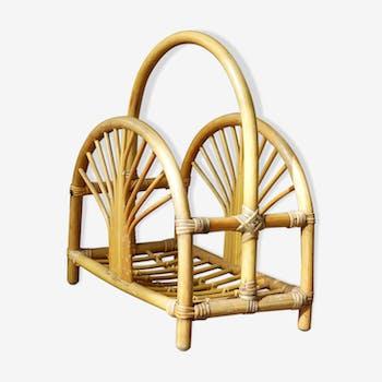 Porte-revues vintage en bambou