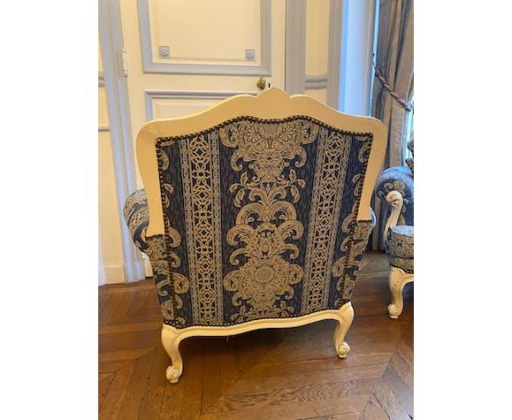 Salon demi corbeille style Louis XV
