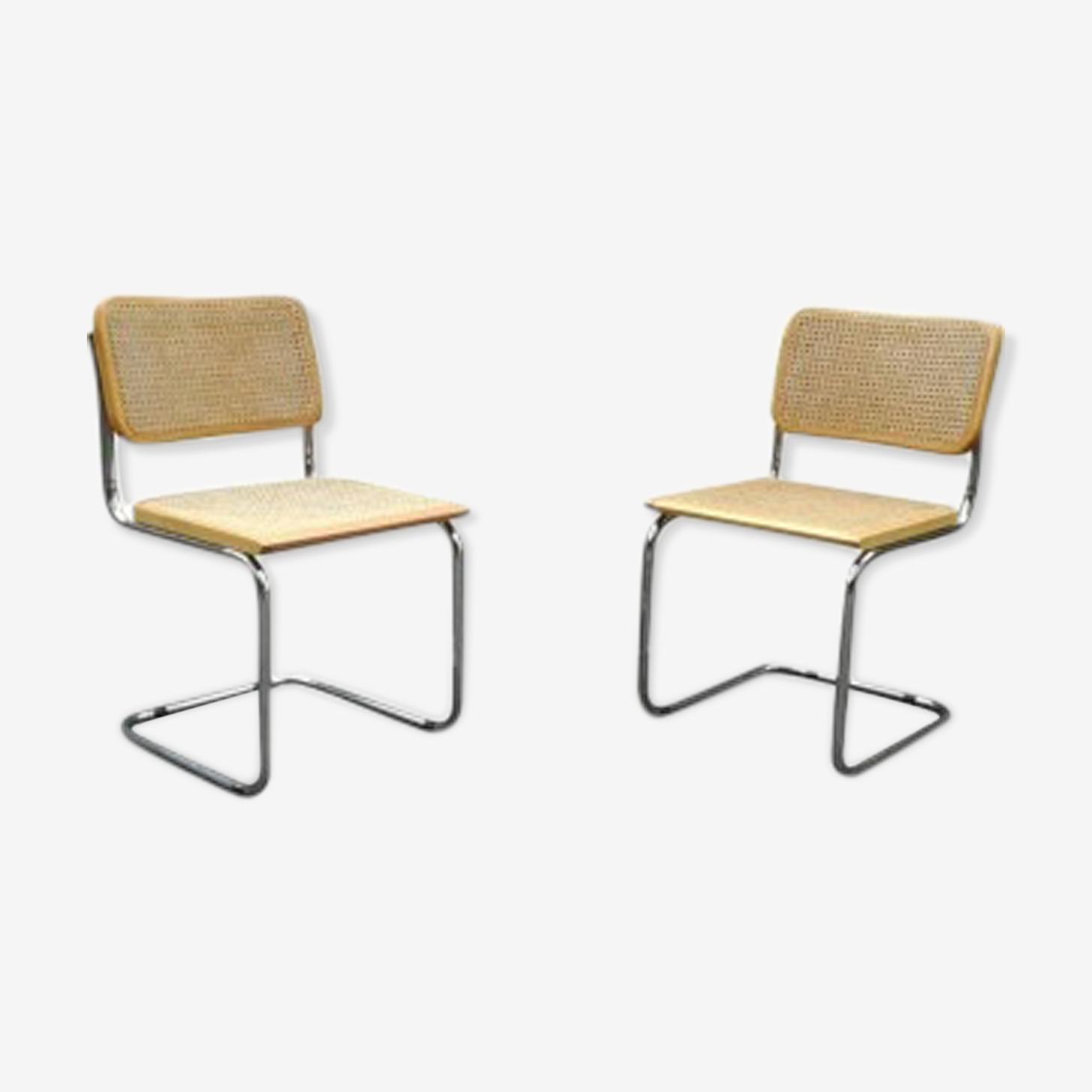 Paire de chaises Marcel Breuer B32