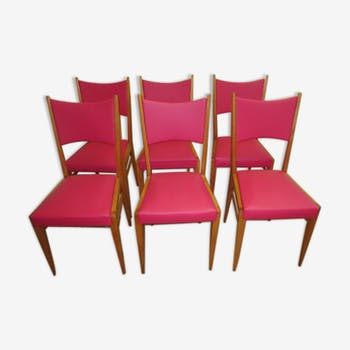 Set of 6 chairs 60s-70s