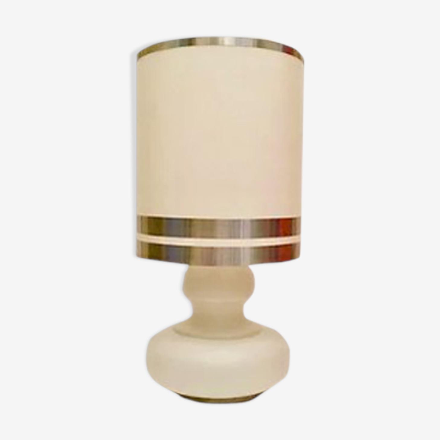 Lampe blanche années 70