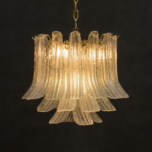 Mazzega, Murano glass petals chandelier | Selency