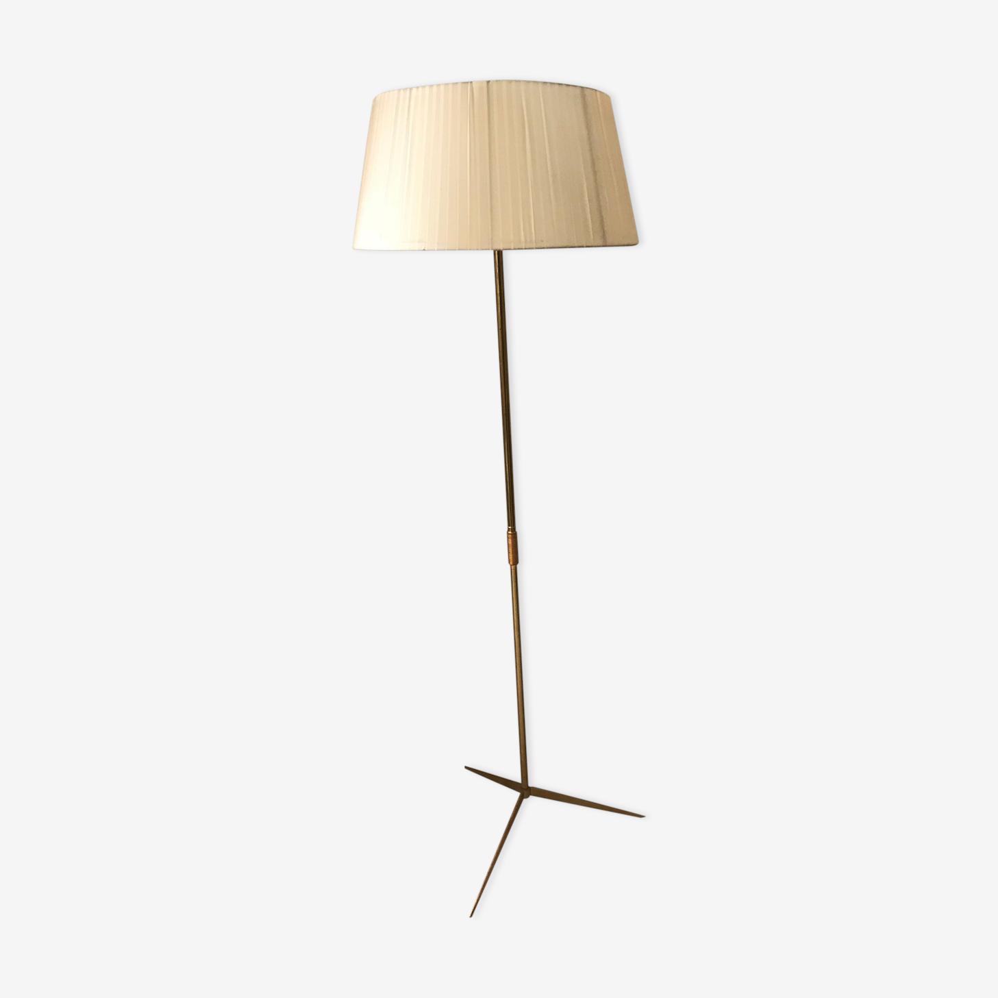 Floor lamp tripod brass vintage 1950 1960