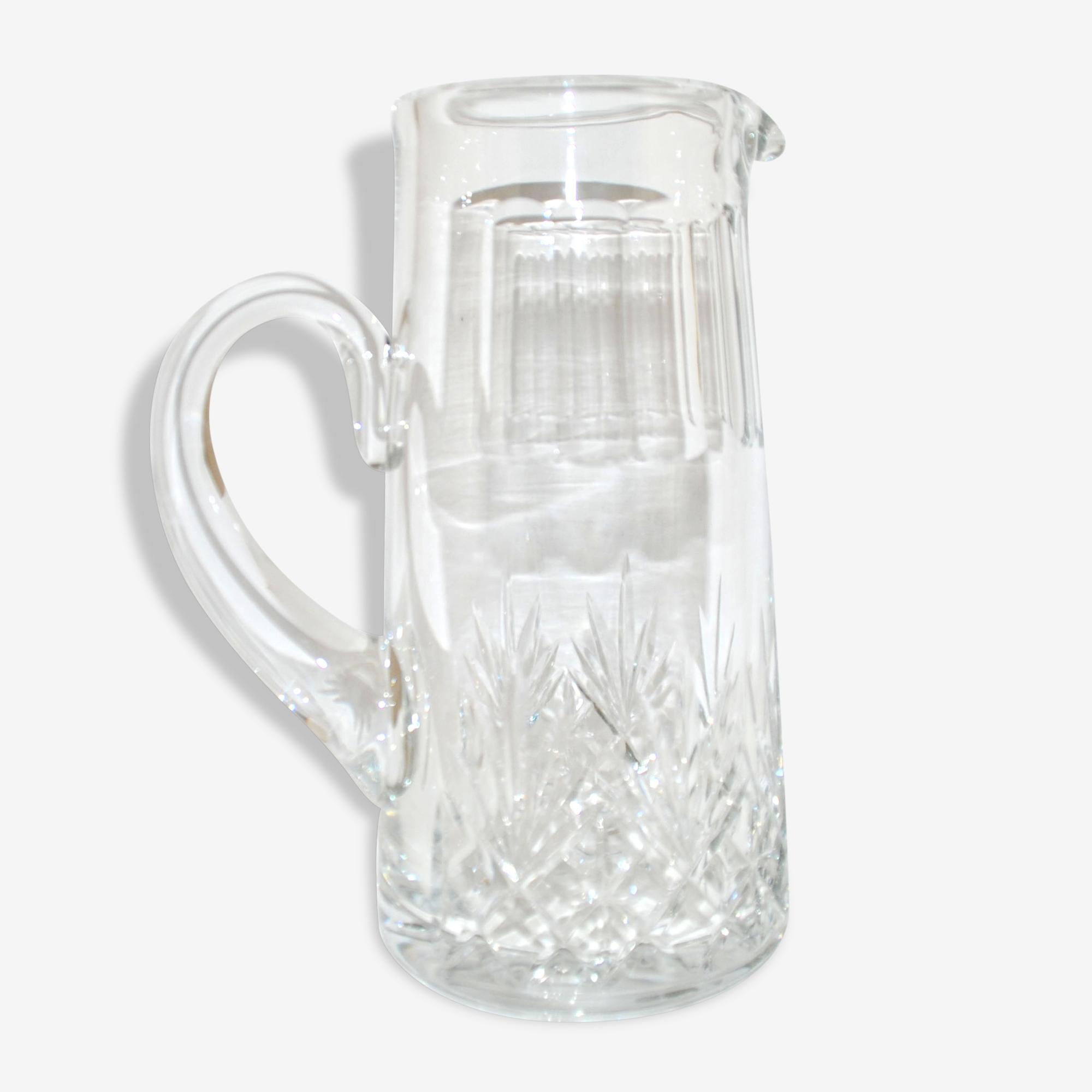 Broc à eau Massenet de Saint-Louis _ Pichet en cristal taillé