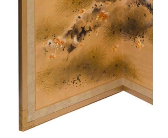 Paravent Yonkyoku Byōbu Japonais à décor de pin
