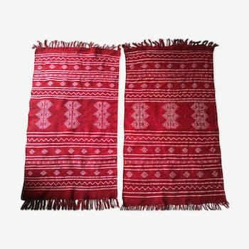 Lot de 2 tapis Kilim 100x60cm