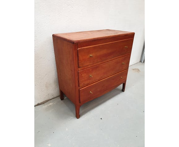 Commode vintage 3 tiroirs des années 50/60