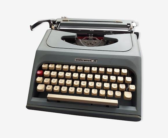Machine à écrire Underwood 26 portative bleue