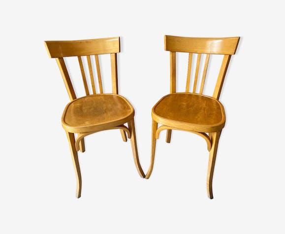 Paire de chaises bistrot vintage