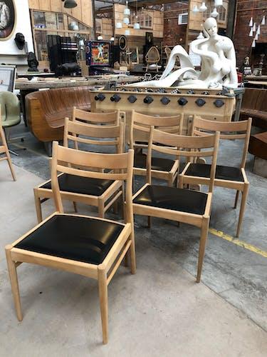 Lot de 7 chaises scandinaves