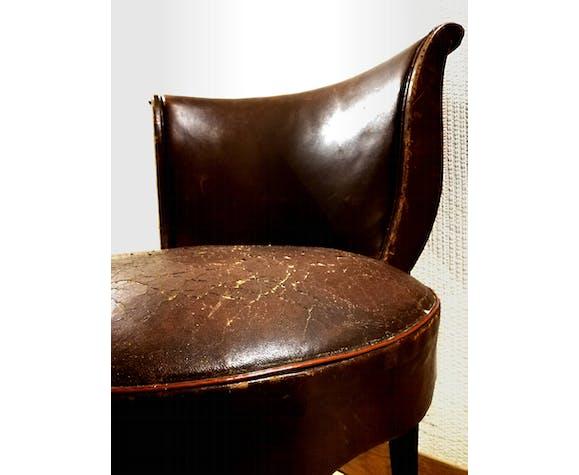 Chaise gondole vintage style art nouveau