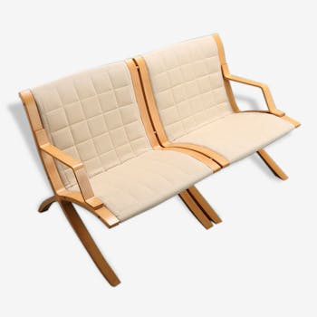 "Peter Hvidt & Mølgaard Nielsen for Fritz Hansen Orla - Sofa 2 places model ""AX"" Scandinavian vintage (1940-1950-1960)"