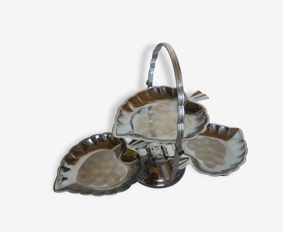 serviteur a gateaux ou amuses bouches metal argent forme feuille m tal argent couleur. Black Bedroom Furniture Sets. Home Design Ideas