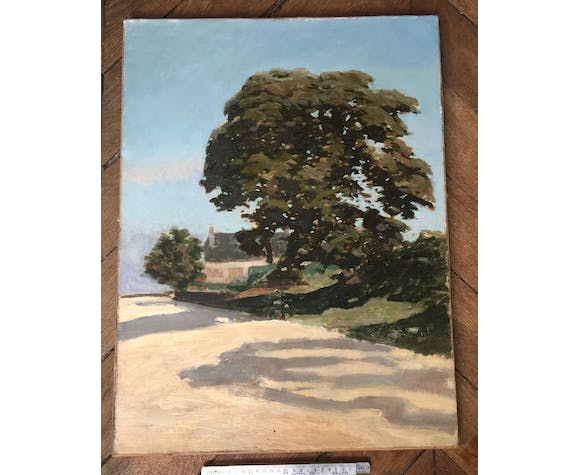 """Oil on canvas """"The Tree and the Longère"""""""