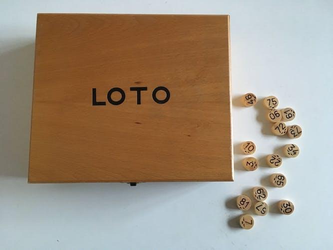 Jeu de loto en bois années 70s