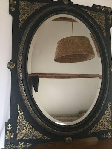 Miroir ancien ovale 93x121cm