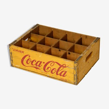 Wooden coca cola crate dating from the years 50/60