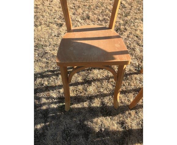 Lot de 6 chaises bistrot en bois vintage