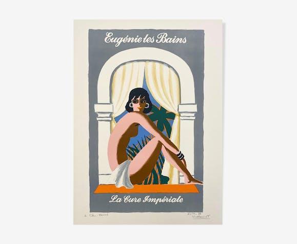 Affiche publicitaire originale Bernard Villemot Eugénie les Bains