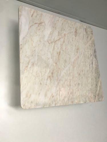 Table basse en marbre blanc des années 1970
