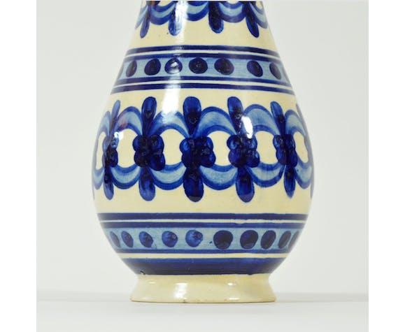 Vase décoré folk des années 1970