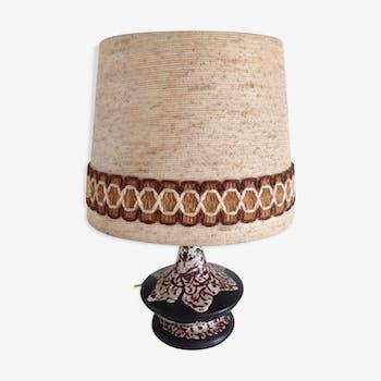 Lampe vintage en ceramique années 70