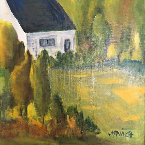 Tableau Arbres et maison