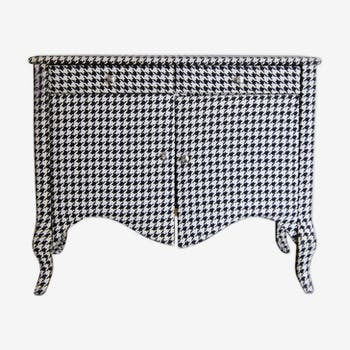 Vintage houndstooth chest of drawers