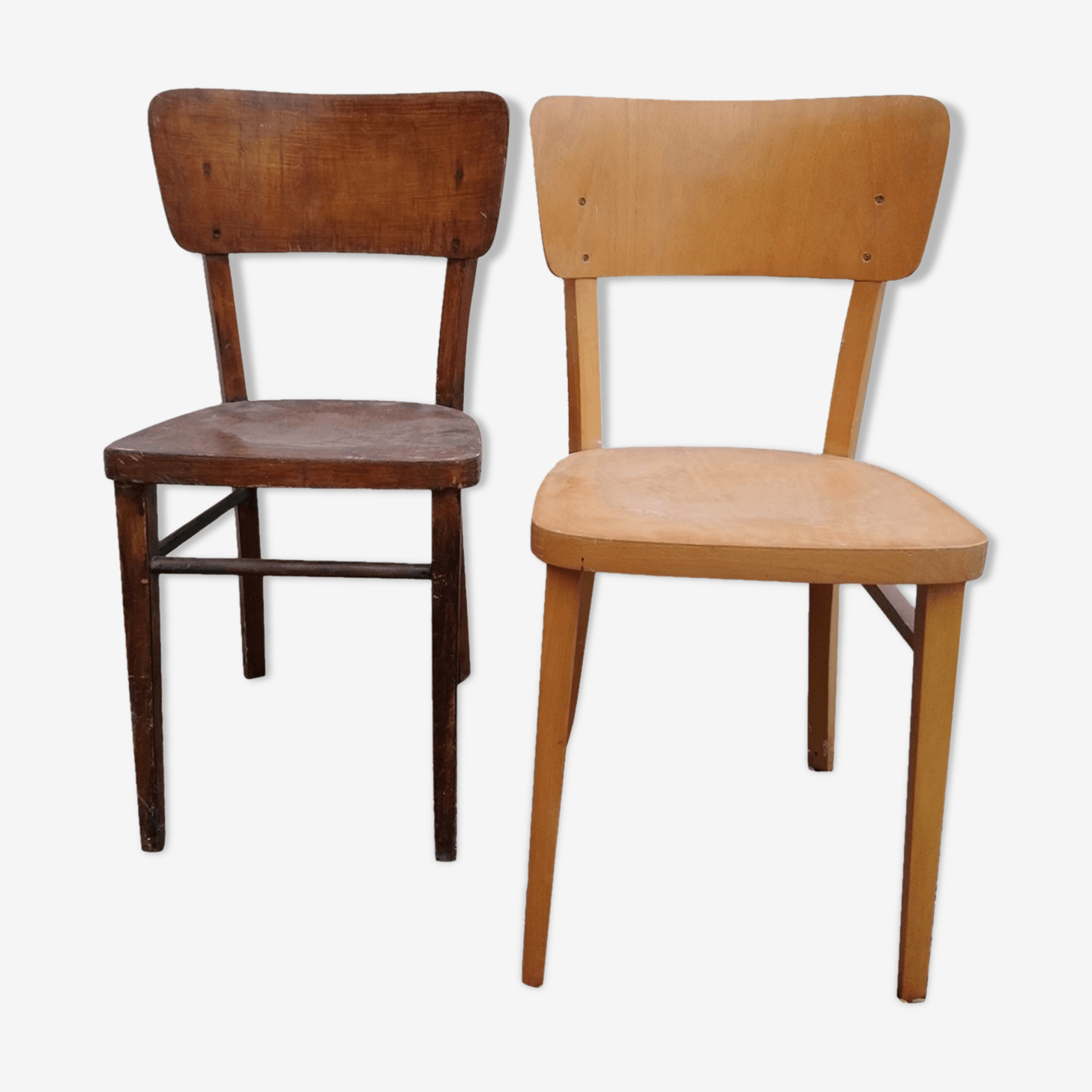 Paire de chaises vintage bistrot Thonet