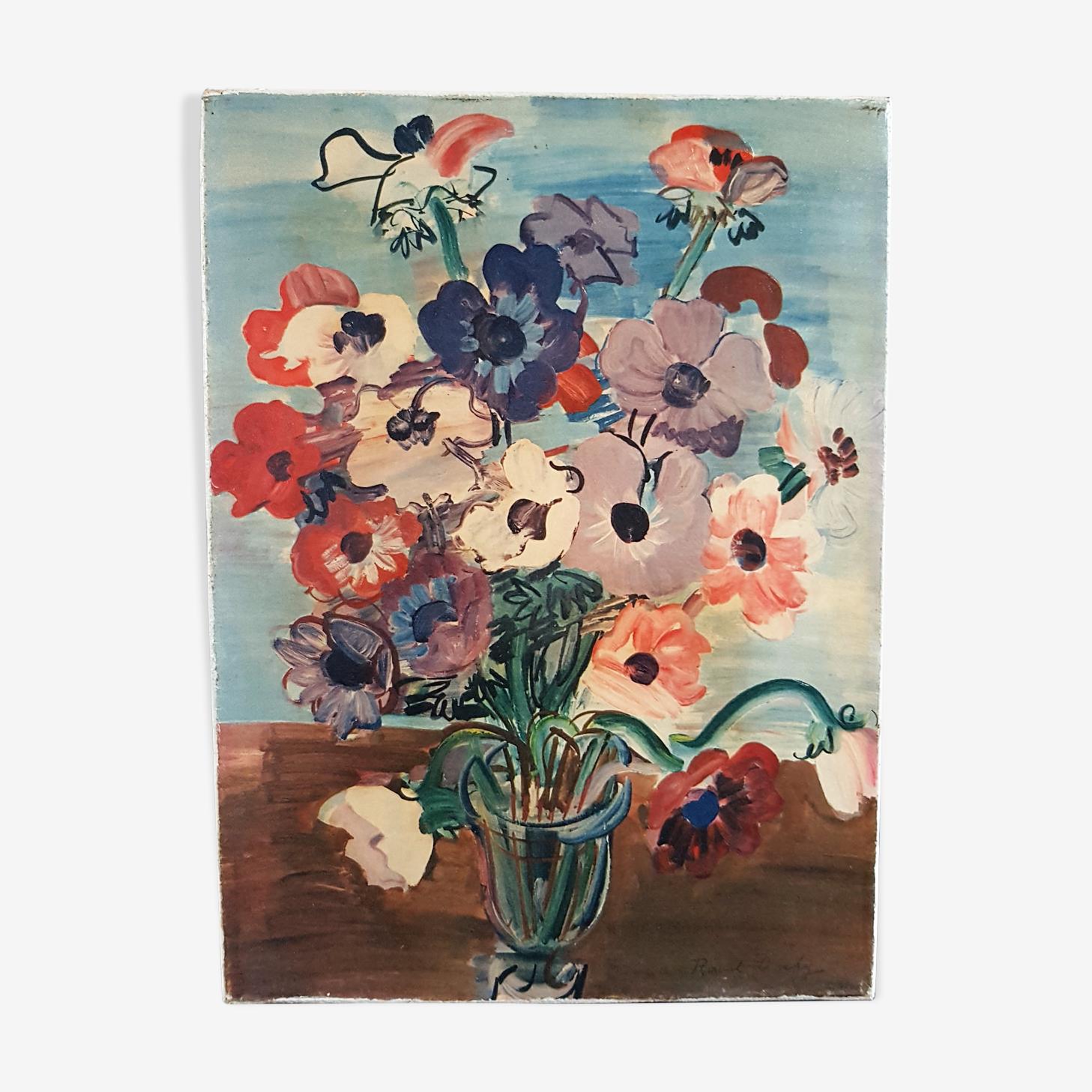 Peinture sur toile bouquet 27x20cm