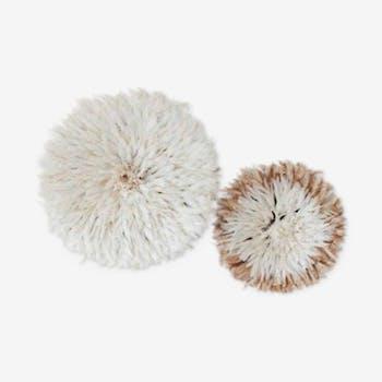 Set of 2 juju hats white and beige