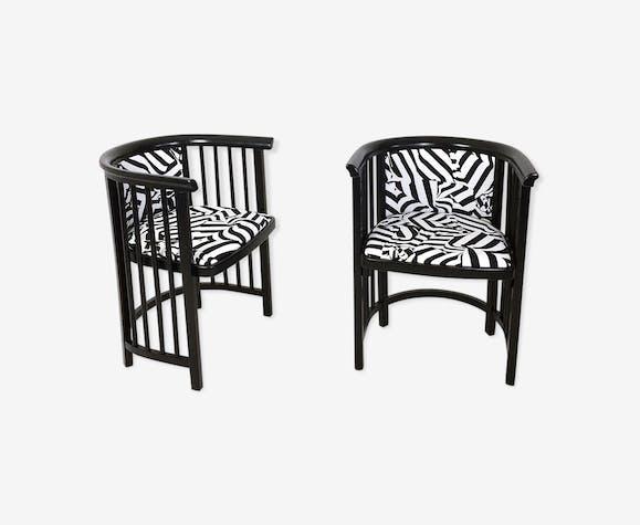 Paire fauteuils de la secession viennoise