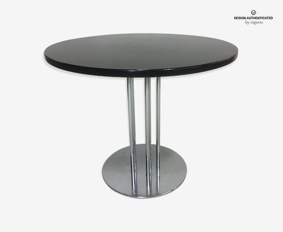 Oak & s Thonet 1980 steel dining table - metal - black - design ...