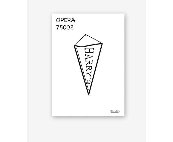 """Illustration, """"quartier Opéra"""" Paris"""