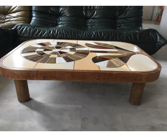 Vintage coffee table by Capron