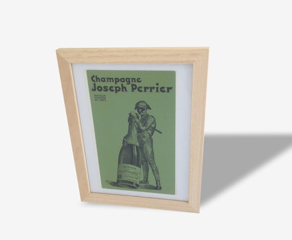 Affiche publicitaire ancienne champagne PERRIER
