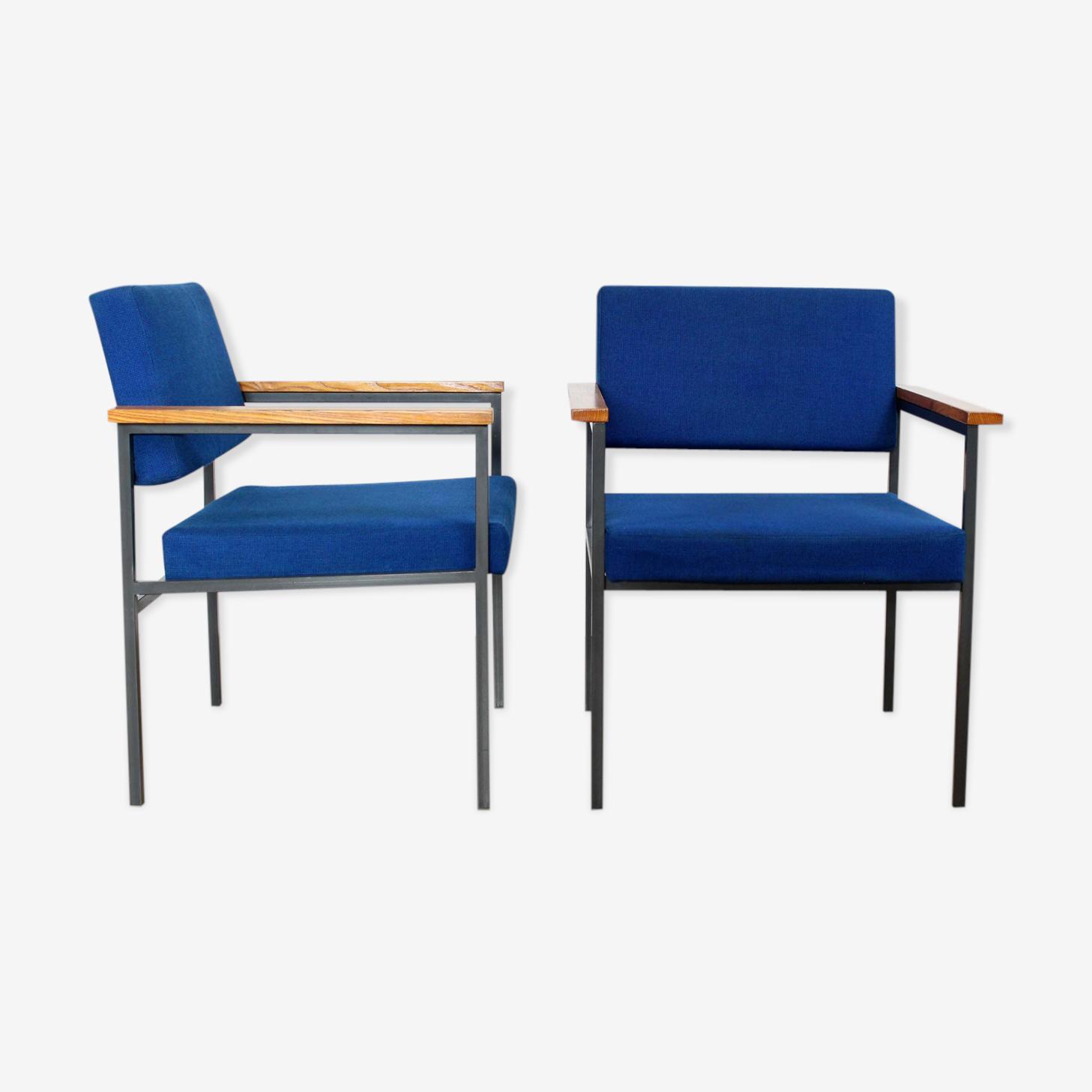Paire de fauteuil 36DLA par Gijs Van der Sluis