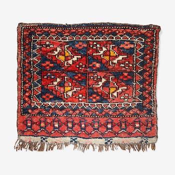 Carpet Uzbek 42 cm x 48cm 1870 s