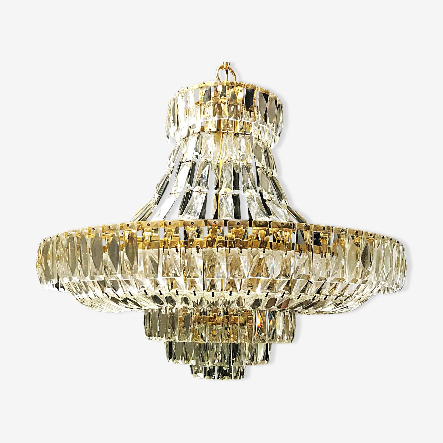 Murano crystal chandelier 1970
