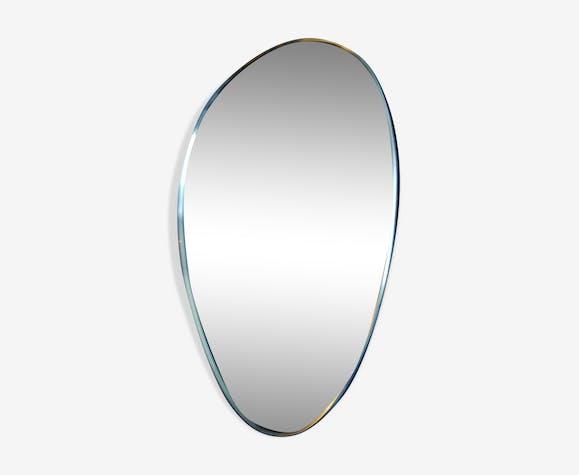 Miroir forme libre asymétrique moderniste 48x34cm
